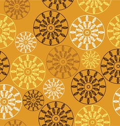 Elegant seamless pattern with yellow flowers vector image