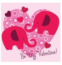 elephant valentine vector image