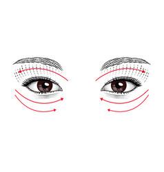 Eyes eastern and european girls vector