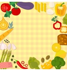 Flat design healthy eating concept vector image