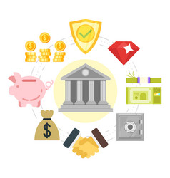 Flat style of a banking system vector