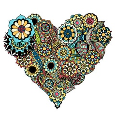 Floral Love Heart Ornament vector