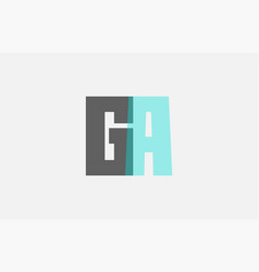Grey pastel blue alphabet letter combination ga g vector