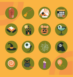 happy halloween orange color background trick or vector image