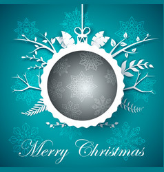 happy new year ball merry christmas vector image