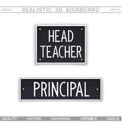 Head teacher principal vector