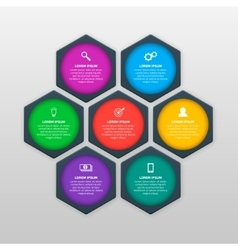 Infographics template with six options in vector