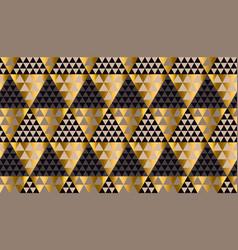 Luxury geometry black gold seamless vector