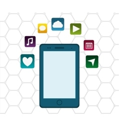 Mobile app technology vector image