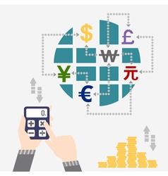 Money around the world finance vector