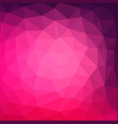Multicolor purple pink geometric rumpled vector