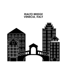 Rialto bridge icon Italy culture design vector image