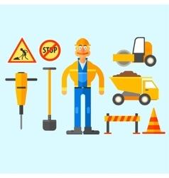 Road Repair Work vector image