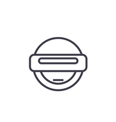 Robot emoji concept line editable concept vector