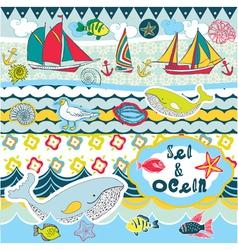 Seas and oceans vector