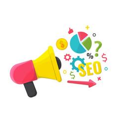 seo optimizationcontent marketing concept vector image