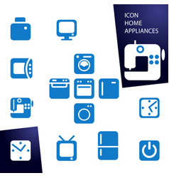 set icons home appliances vector image