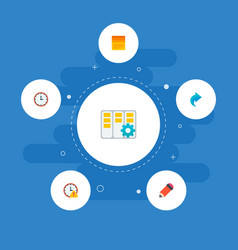 Set of task manager icons flat style symbols with vector