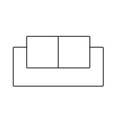 sofa simple icon vector image