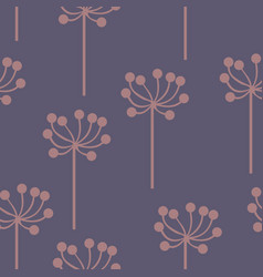 Stylized plants on a purple background vector
