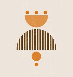 sun print boho minimalist printable wall art vector image