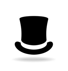 top hat sign vector image