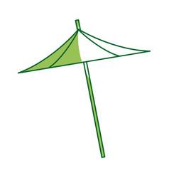 Umbrella decoration cocktail drink icon vector