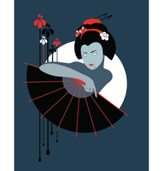 Vampire geisha vector image