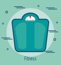 Weight balance isolated icon vector