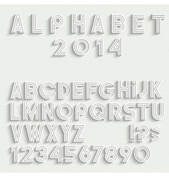 White font numbers and punctuation marks vector