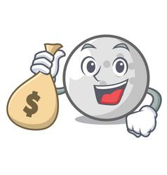 with money bag golf ball character cartoon vector image