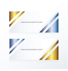 Abstract banner gold and blue vector