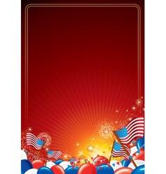 American Celebration Background vector image