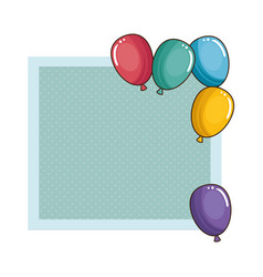 balloons air party frame vector image