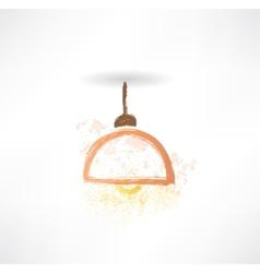 chandelier grunge icon vector image vector image
