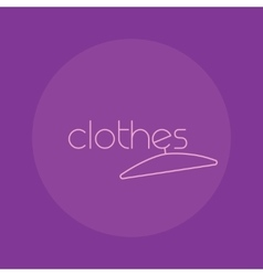 Clothes logo isolated creative fashion vector image vector image