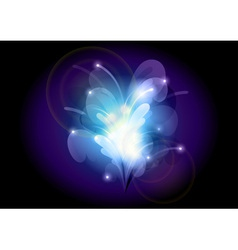 abstract flower blue vector image