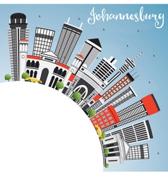 Johannesburg Skyline with Gray Buildings vector image vector image