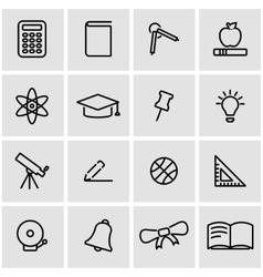 line education icon set vector image vector image
