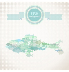 Paper fish background vector image