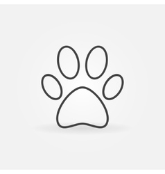 Paw line icon vector image