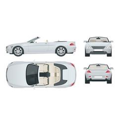 transfer cabriolet car cabrio coupe vehicle vector image vector image