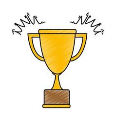 trophy cup award icon vector image vector image
