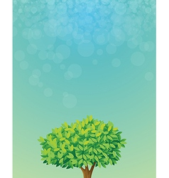 A blue colored stationery with a tree vector image vector image