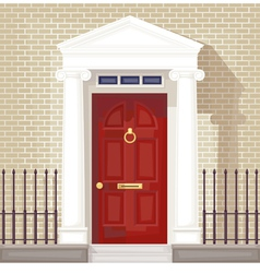 front door vector image