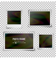 instant photo frame blank vintage photo vector image vector image