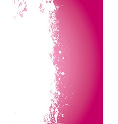 Pink splat grunge vector image vector image