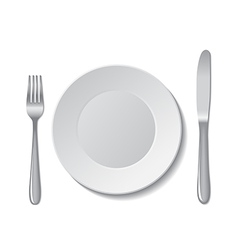 plate cutlery vector image vector image