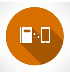 smartphone and notepad exchange icon vector image vector image