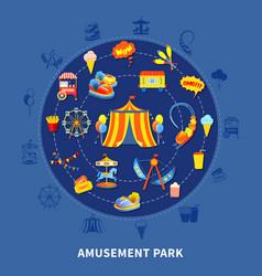 amusement park set vector image vector image